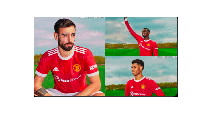 Man United's new home kit: photos of Bruno Fernandes and Paul Pogba leaked - Bóng Đá