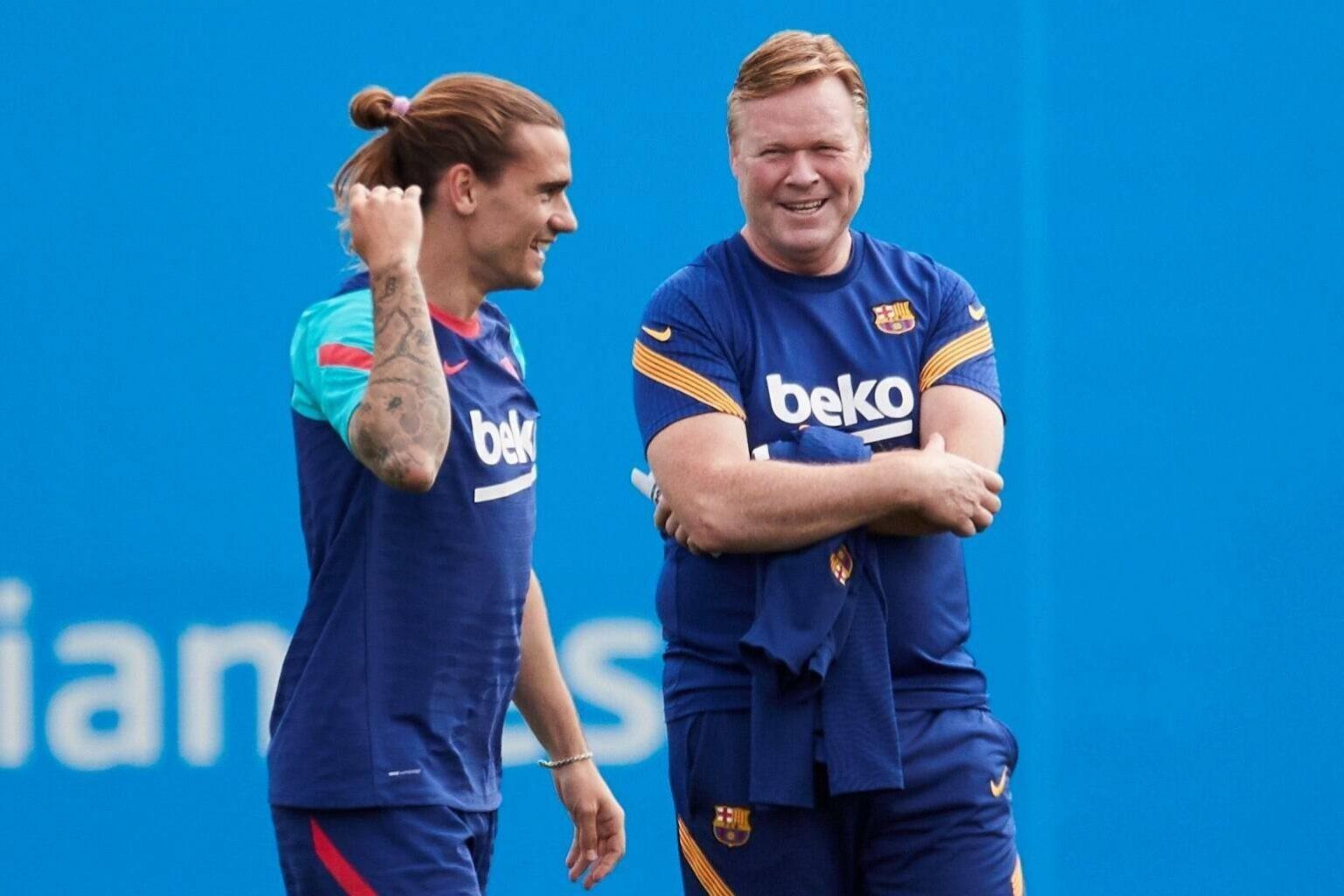 Ronald Koeman lên tiếng về tương lai Messi và Griezmann tại Barca - Bóng Đá