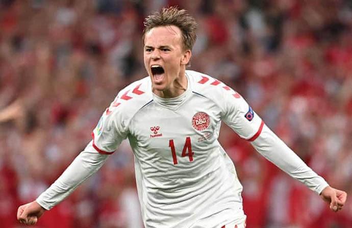Damsgaard đã chơi rất hay ở EURO 2020