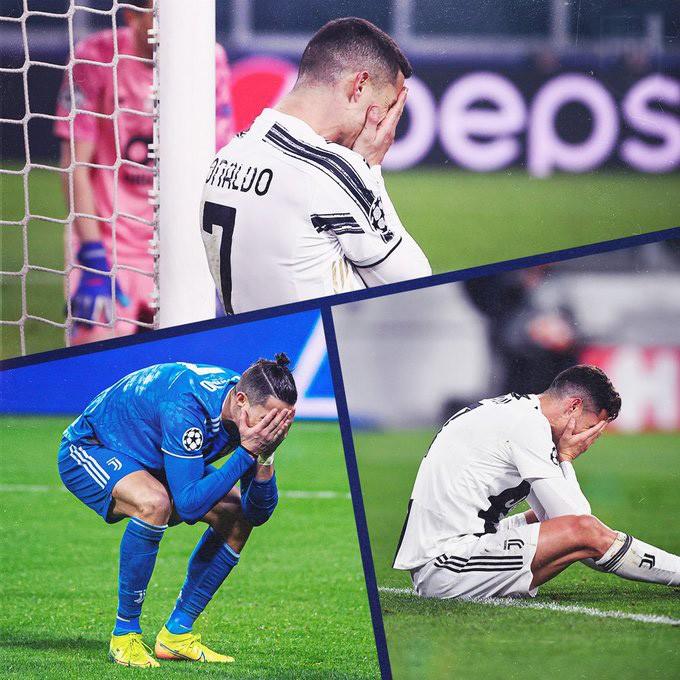 Ronaldo đã liên tục thất bại tại Champions League từ khi đến Juventus
