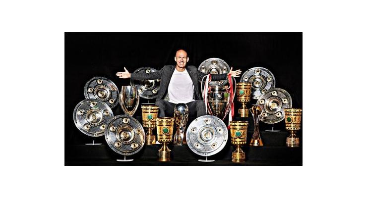Arjen Robben kết thúc sự nghiệp với vô số danh hiệu cùng Bayern Munich