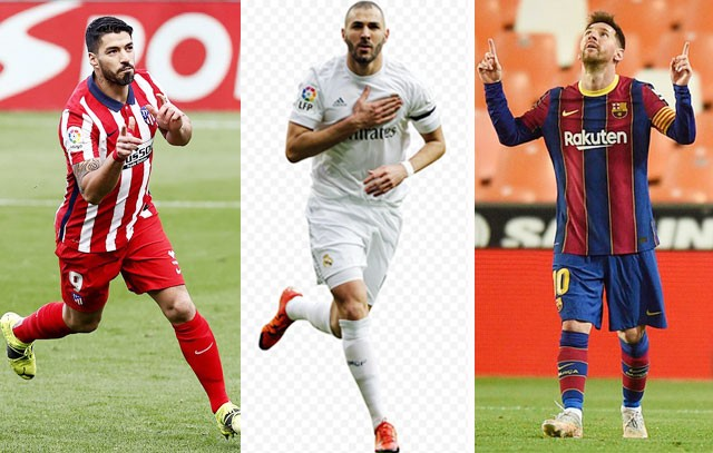 Cuộc đua vô địch La Liga những năm qua chỉ là chuyện nội bộ của Atletico, Real và Barca (từ trái qua)