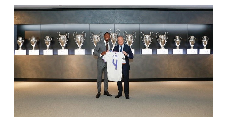 David Alaba has been presented as the Santiago Bernabeu. He is Real Madrid's new number 4. - Bóng Đá