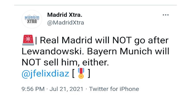 Real Madrid will NOT go after Lewandowski. Bayern Munich will NOT sell him, either. - Bóng Đá